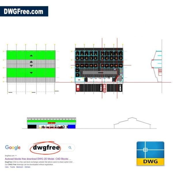 Horse Stables DWG CAD Drawing