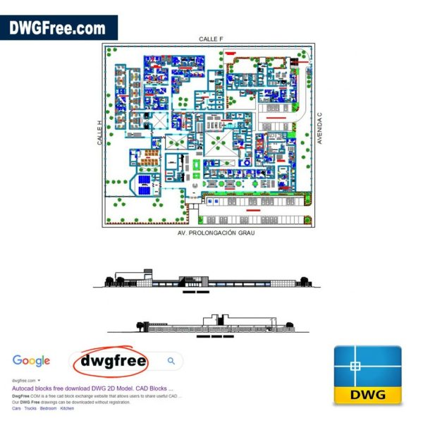 Hospital of Type DWG Drawing CAD
