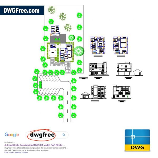Housing for the Administration DWG CAD files