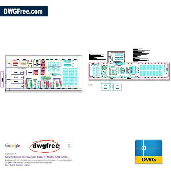 Industrial Kitchen Equipment Layout DWG CAD