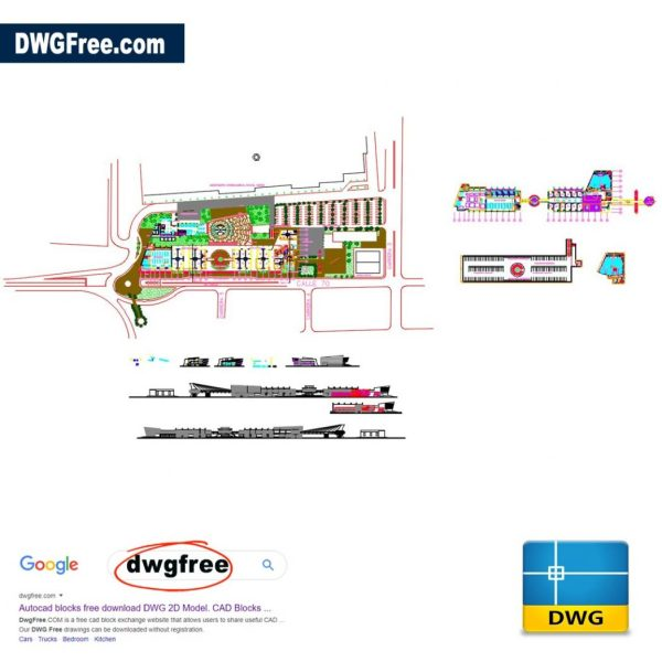International Airport Details DWG CAD File