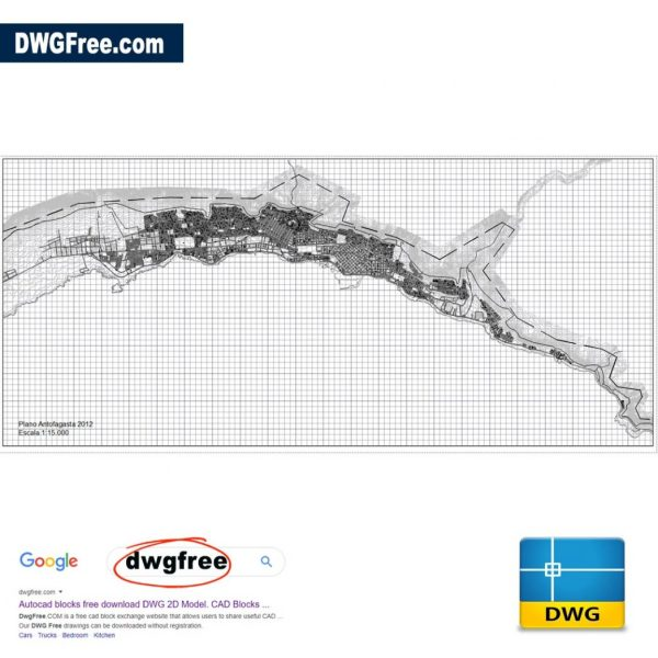 Map of the City of Antofagasta 2012 DWG CAD Files