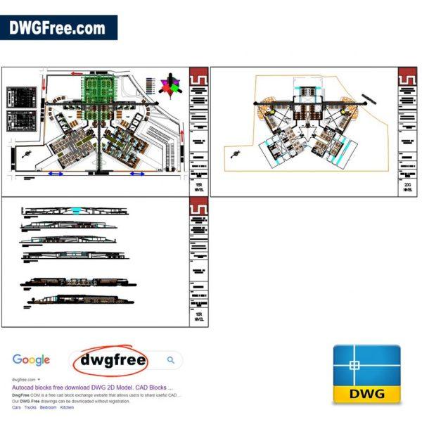 Market-plans-2d-free-autocad