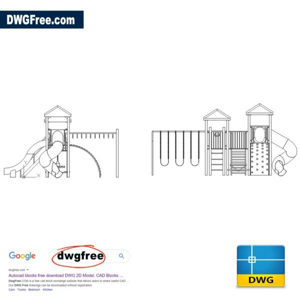 Playground-For-Children-Dwg-Autocad-drawing