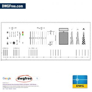 Road Marking Template DWG CAD FREE