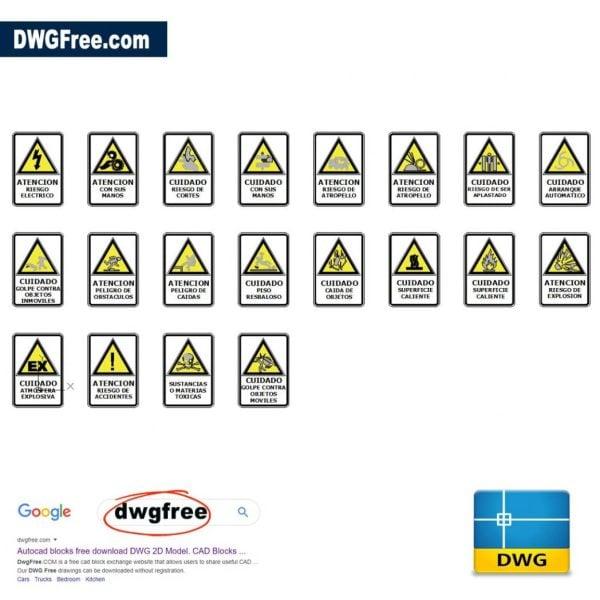 Signals-security-risks-at-work-blocks-cad-2d