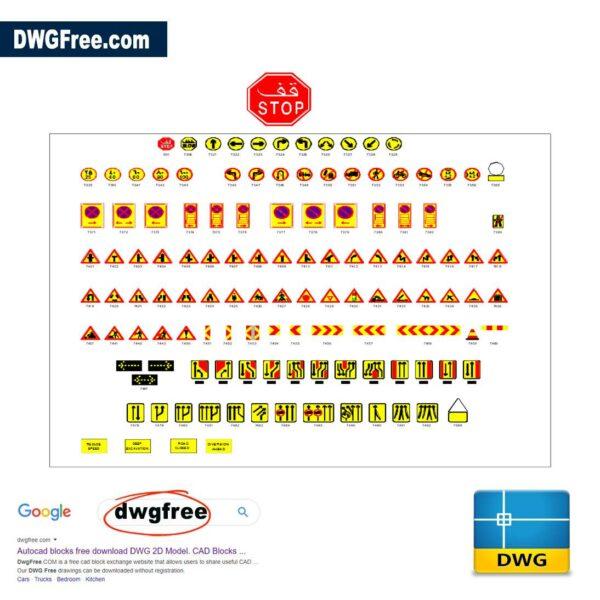 Traffic Control Manual CAD DWG Blocks