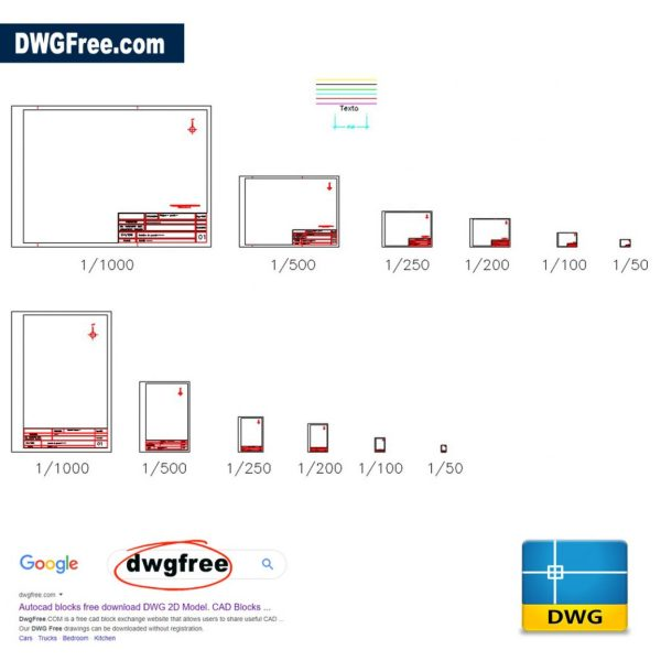 Different-templates-format-printing-cad-dwg-in-autocad