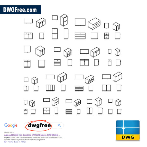 Storage Cabinet DWG CAD files block