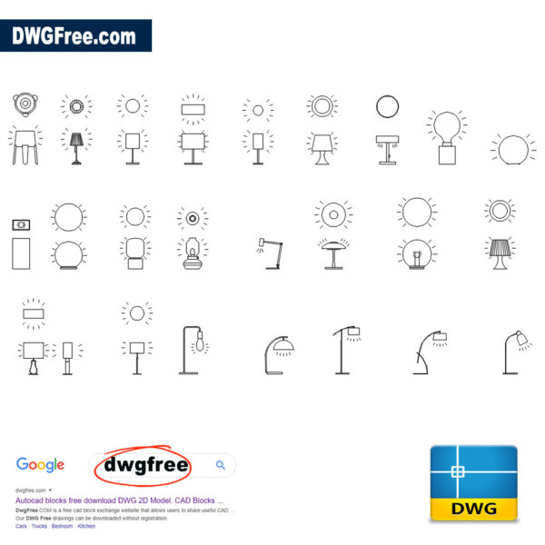 Table Lamps DWG CAD free files