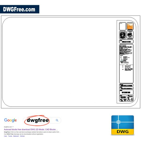 Template - u. n. a. m DWG in CAD