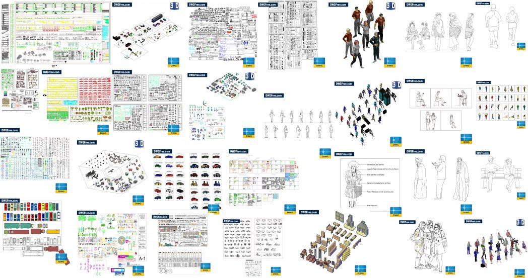 Bloques CAD gratuitos en AutoCAD Blocks